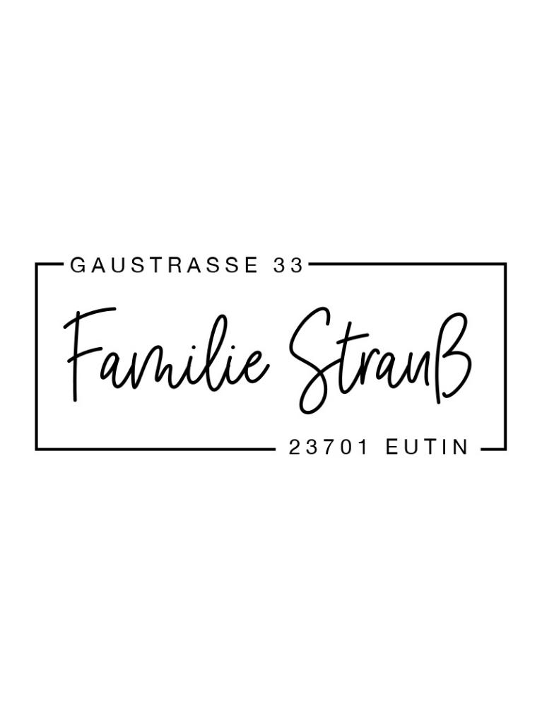 """Rechteckiger Selbstfärbestempel mit Adresse, personalisierbar, Motiv """"Eutin"""""""