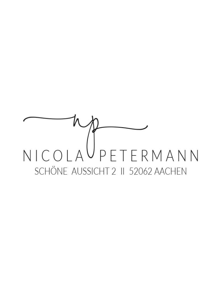 """Rechteckiger Selbstfärbestempel mit Adresse, personalisierbar, Motiv """"Aachen"""""""