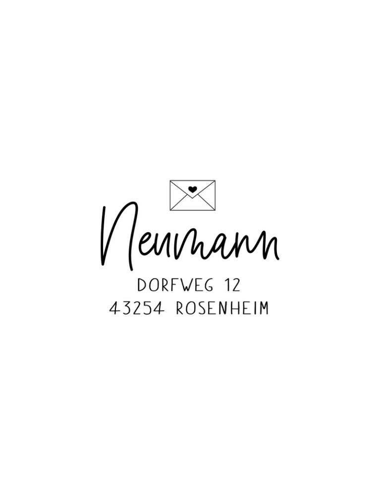 "Persönlicher Adress-Stempel, Holzstempel 45 x 45 mm, quadratisch, Motiv ""Rosenheim"""