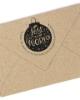 """Weihnachtlicher Holzstempel personalisiert, Motiv """"Joy"""", rund mit Weihnachtskugel"""