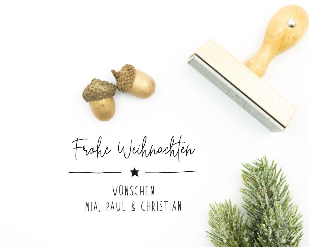 """Weihnachts-Stempel """"Sternlein"""", Holzstempel, ca. 50 x 35 mm"""