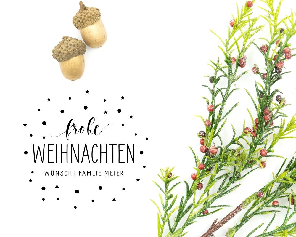 """Adress-Stempel weihnachtlich, personalisierbarer Holzstempel, Motiv """"Sternenzauber"""""""