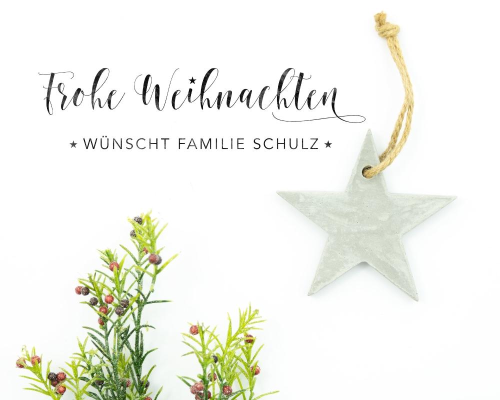 """Personalisierter Adress-Stempel zu Weihnachten, Holzstempel, Motiv """"Weihnachtsgruß"""""""