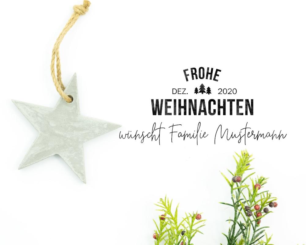 """Personalisierter Adress-Stempel zu Weihnachten,  Rechteckiger Holzstempel, Motiv """"Tannenbaum"""""""