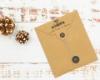 """Adress-Stempel weihnachtlich, personalisierbarer Holzstempel, Motiv """"Tannenbaum"""""""