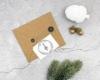 """Adress-Stempel weihnachtlich, personalisierbarer Holzstempel, Motiv """"Christbaum"""""""