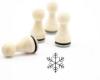 Motivstempel, 15mm, Schneeflocke