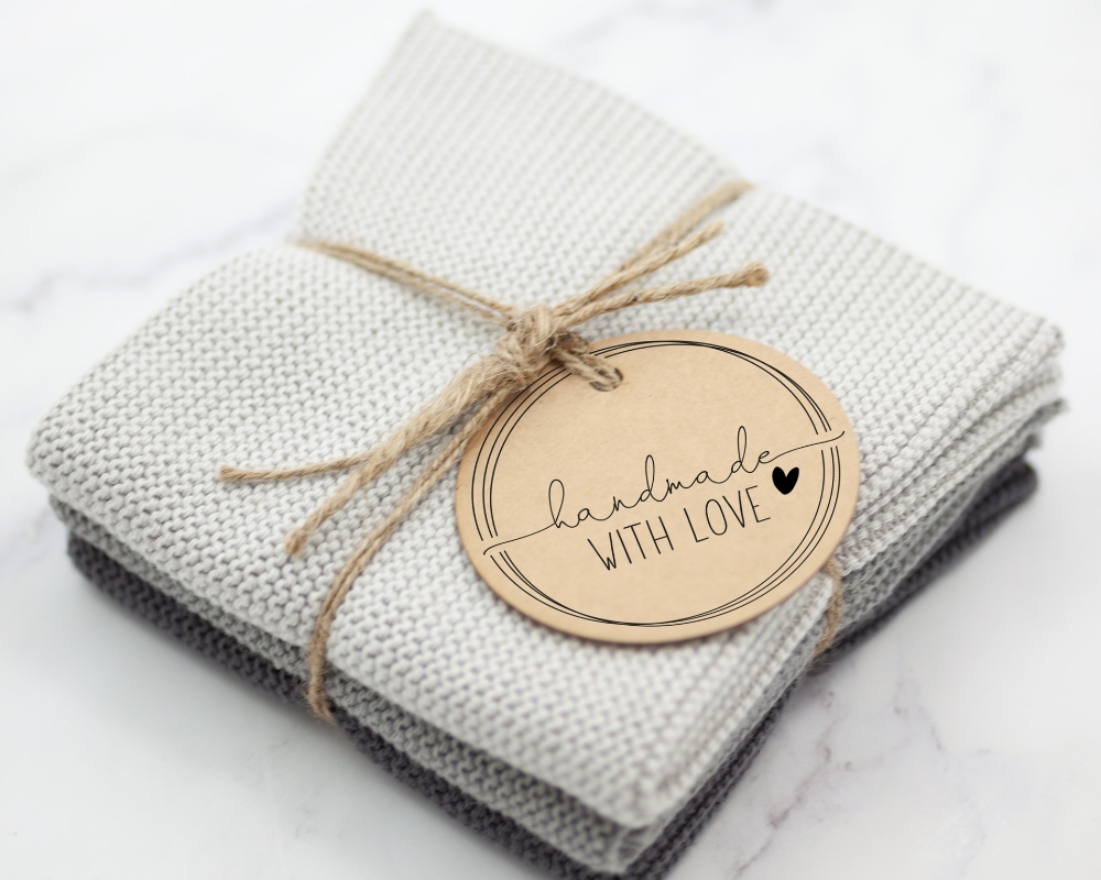 """Motivstempel """"handmade WITH LOVE"""", selbstgemachtes"""