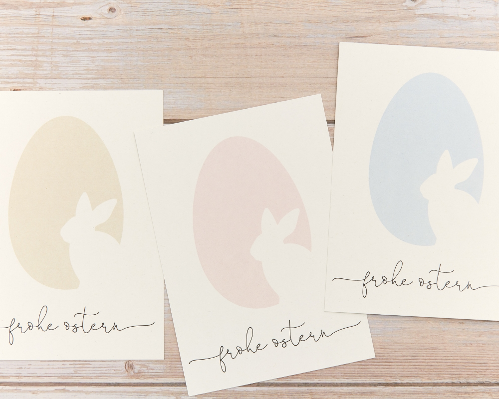 Osterkartenset, 10 Postkarten farbsortiert, inkl. Umschlag