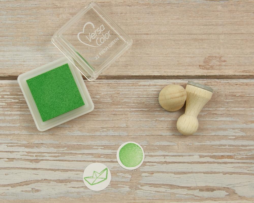 """Ministempelkissen """"Fresh green"""" von Versacolor, Farbnummer 22"""