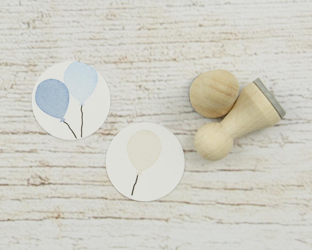 Ministempel Luftballon, Holz