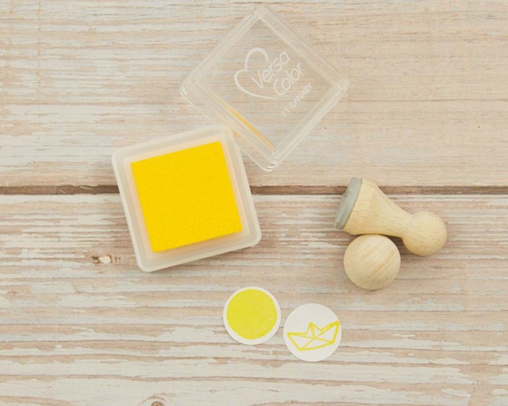 Ministempelkissen, gelb