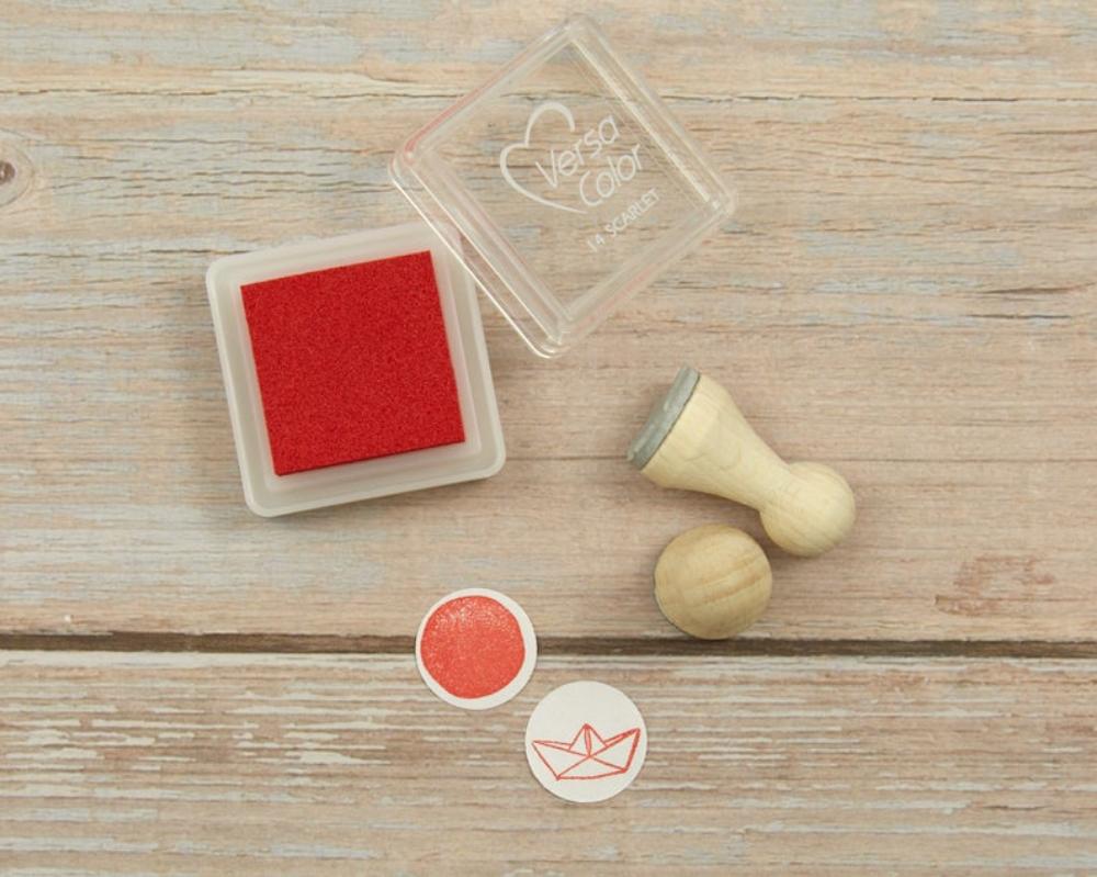 Ministempelkissen, scarlet, rot