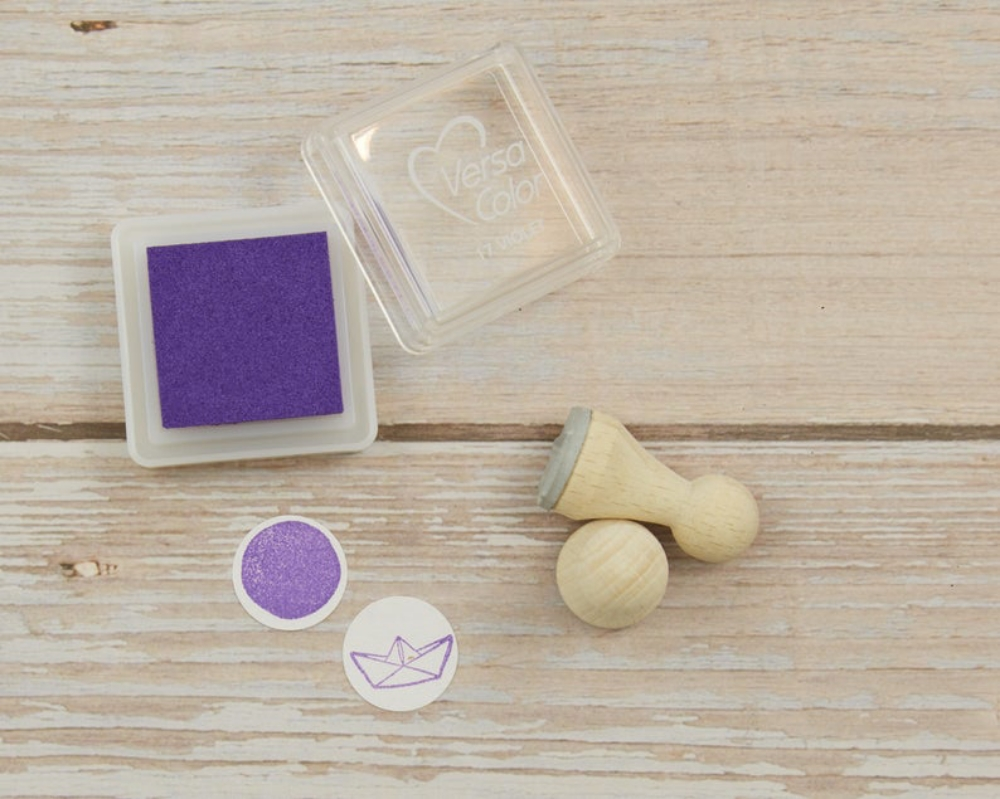 Stempelkissen, violett, lila, Mini