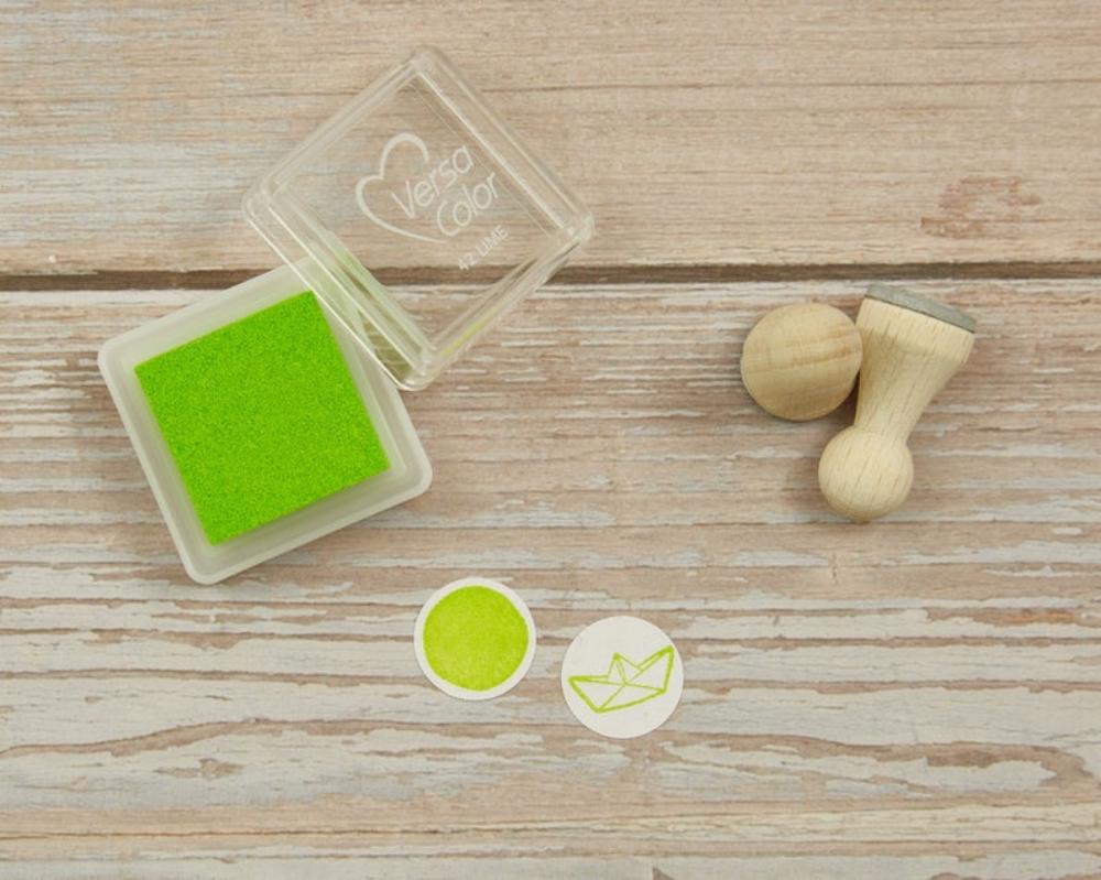 Ministempelkissen, hellgrün, lime