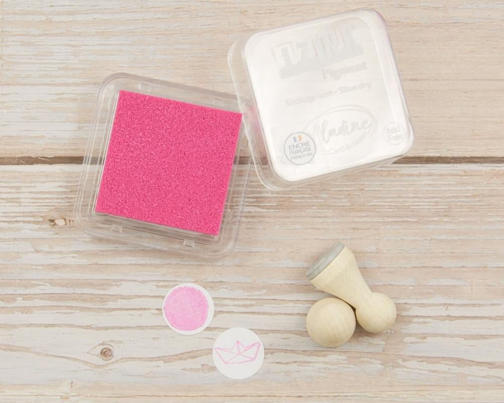 Mini-Stempelkissen light pink, 38 x 38 mm, säurefrei, farbbeständig
