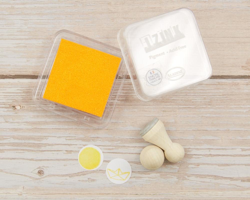 """Mini-Stempelkissen """"Light Orange"""", 38 x 38 mm, säurefrei, farbbeständig"""