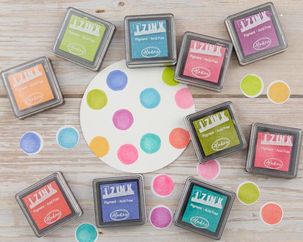 Stempelkissenset, vitamine, Miniformat, kräftige Farben