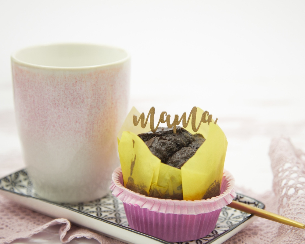 """Picture of Caketopper / Kuchenstecker für Muffins mit dem Schriftzug """"Mama"""""""
