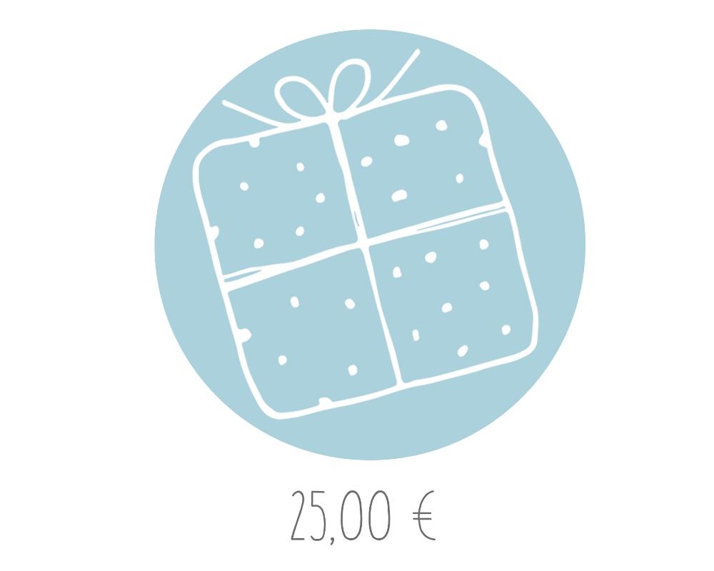 Geschenkgutschein im Wert von 25,00 €