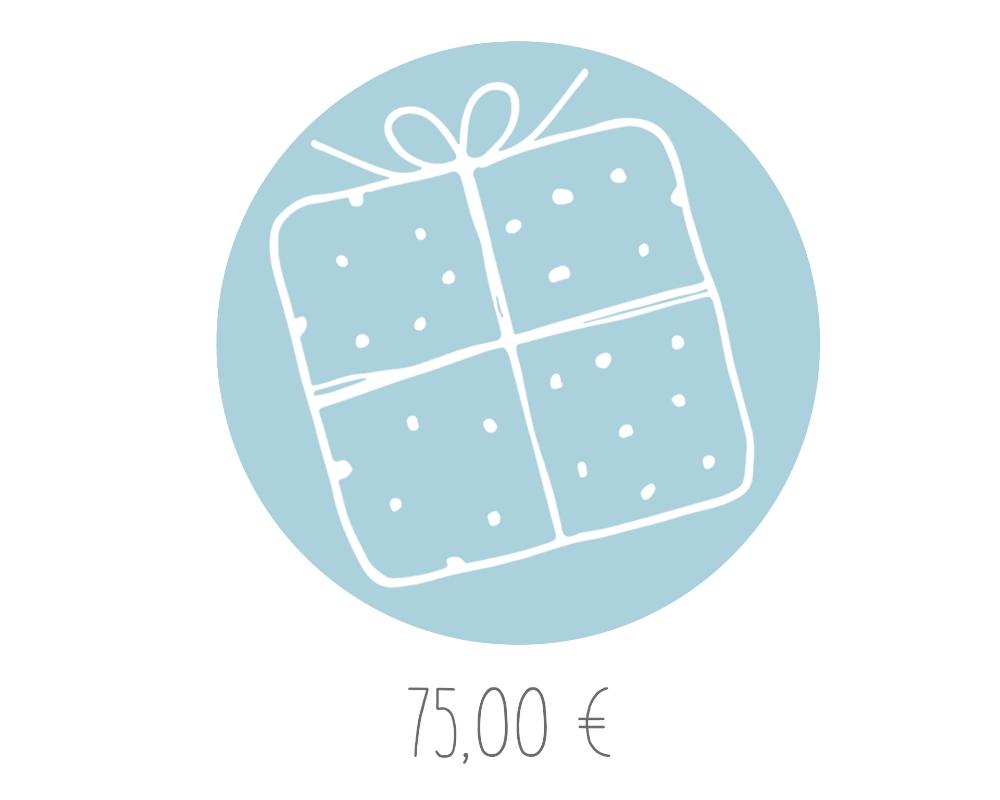 Geschenkgutschein im Wert von 75,00 €