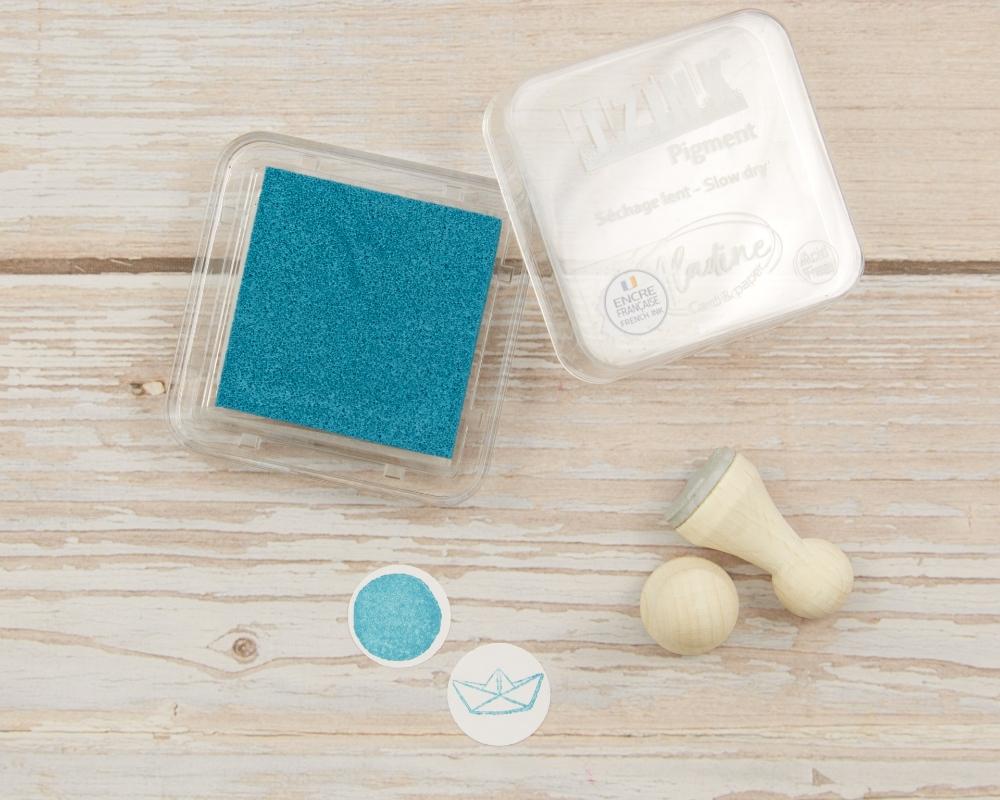 "Picture of Stempelkissen Blaugrün // Pigment Ink Pad Aladine iZink ""Turquoise"""