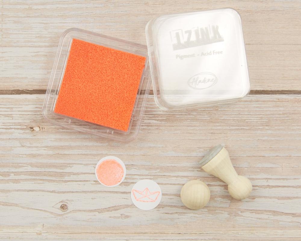 "Picture of Stempelkissen neon orange // Pigment Ink Pad Aladine iZink ""Fluo Orange"""