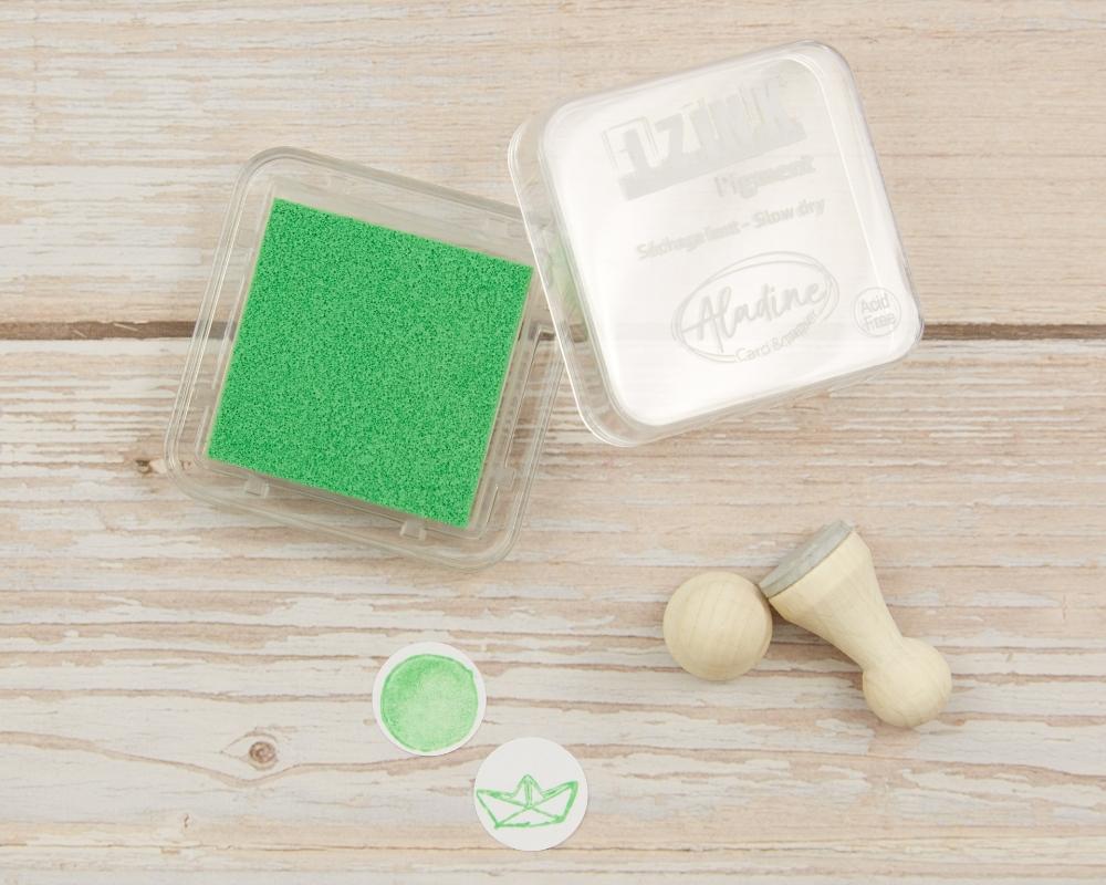 "Picture of Stempelkissen neon grün// Pigment Ink Pad Aladine iZink ""Fluo Green"""