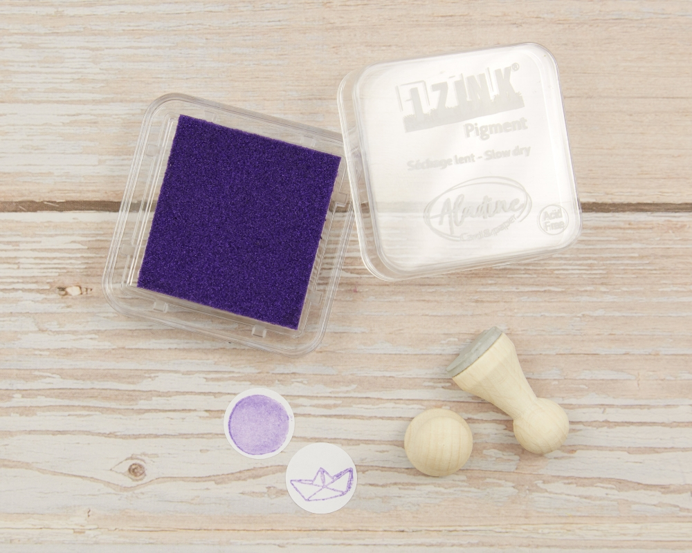 "Picture of Stempelkissen lila metallic// Pigment Ink Pad Aladine iZink ""Metal Purple"""