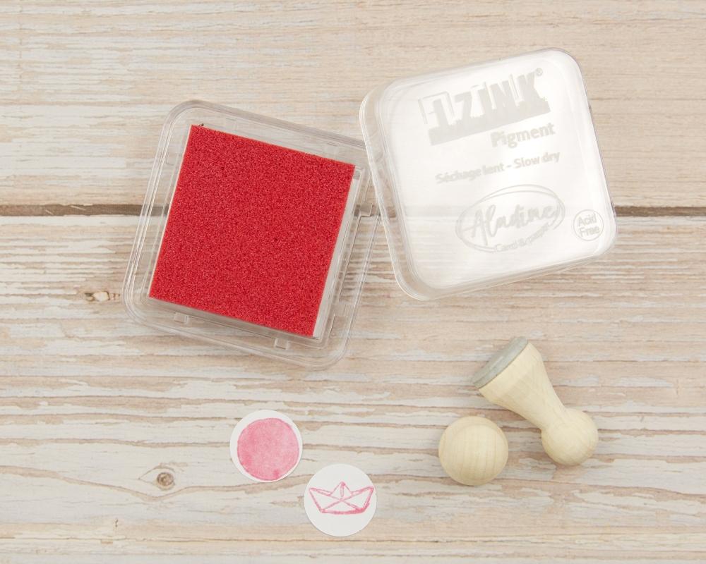 "Picture of Stempelkissen pink metallic// Pigment Ink Pad Aladine iZink ""Metal Pink"""