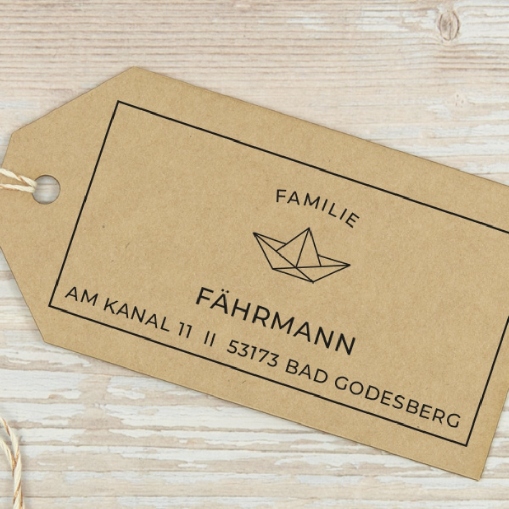 "Familienstempel ""Bad Godesberg"", individuell & personalisierbar"
