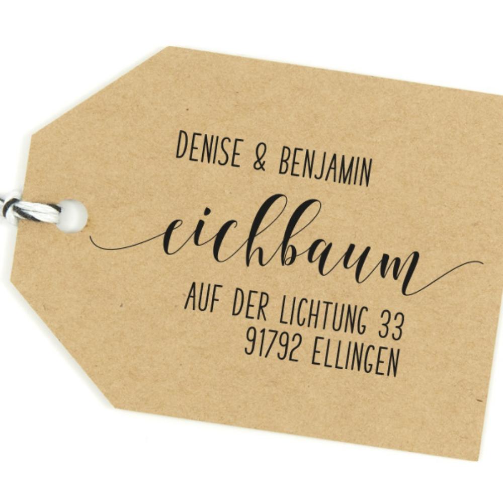 """Familienstempel """"Ellingen"""", personalisiert mit Deiner Adresse"""