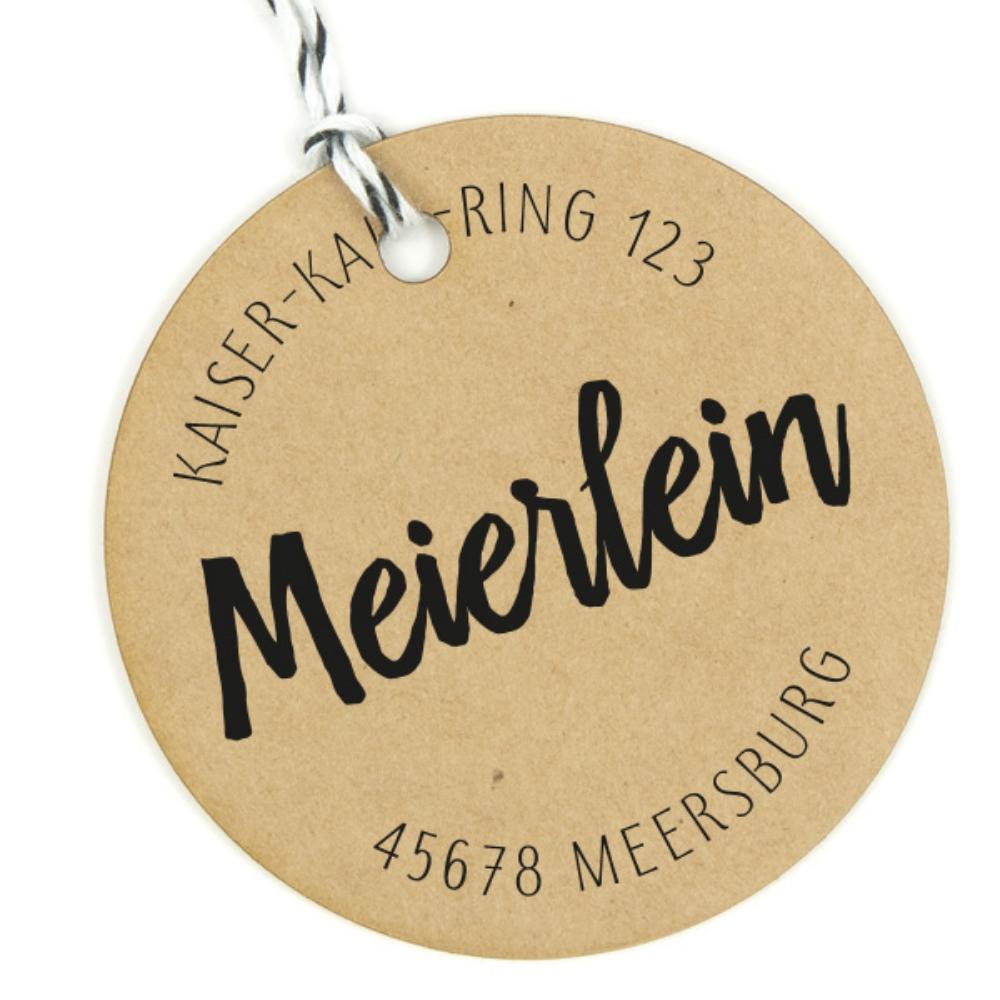 """Adressstempel """"Meersburg"""" - personaliert & individuell"""