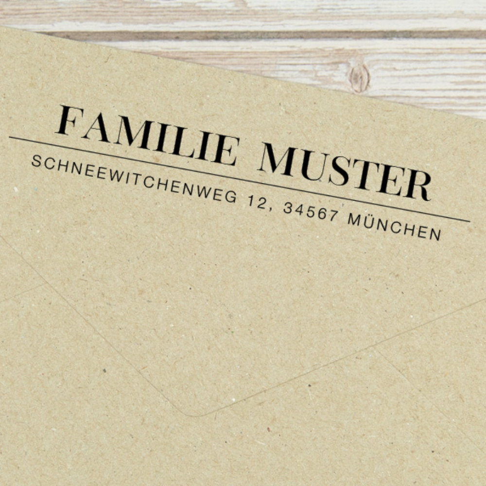 """Individueller Familienstempel """"München"""" - gefertigt nach Deinen Angaben"""