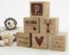 Holzwürfel mit Gravur als Geburtsgeschenk - 60 x 60 x 60 mm