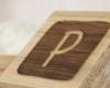 Detailansicht Gravur, personalisierte Holzwürfel