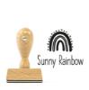 Namensstempel, personalisiert, rechteckig, Regenbogen, Schulstempel
