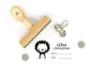 Namensstempel, personalisiert, rechteckig, Löwe, Schulstempel