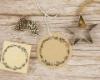 Weihnachtsstempel mit Mistelkranz für Deine Weihnachtspost