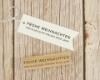Motivstempel, rechteckig, Holzstempel, Frohe Weihachten
