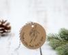 """Personalisierter Adress-Stempel zu Weihnachten, runder Holzstempel, Motiv """"Mistelzauber"""""""