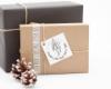 """Weihnachtsstempel mit Adresse, Motiv """"Mistelzauber"""", personalisiert"""