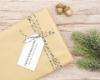 """Personalisierter Adress-Stempel zu Weihnachten, Motiv """"Frohe Weihnachten"""""""