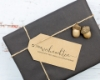 """Weihnachtsstempel mit Adresse, Motiv """"Frohe Weihnachten"""", personalisiert"""