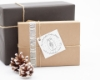 Stempel für Deine Weihnachtskarten und Geschenkanhänger mit Mistelzweig