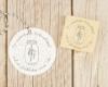 Weihnachtsstempel für Geschenkanhänger und Weihnachtskarten mit Mistelzweig