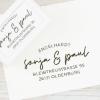 Selbstfärbender Adressstempel mit Handschrift & Rundsatz