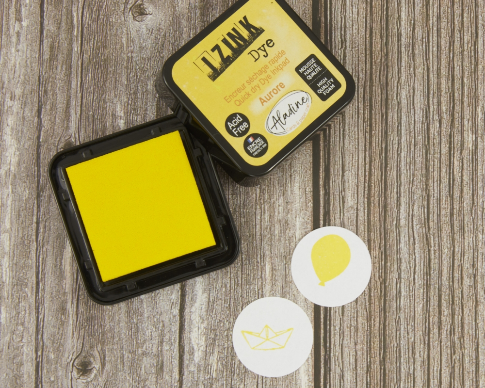 Stempelkissen, gelb, iZink Dye
