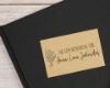 Ex Libris Stempel mit hübschem Blumenmotiv -  individuell & persönlich