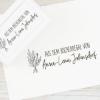 Ex Libris Stempel / Selbstfärbestempel mit Blumenmotiv, individuell & persönlich